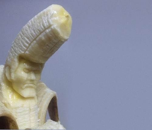 日本不良香蕉的代表「香蕉飞机头少年」.