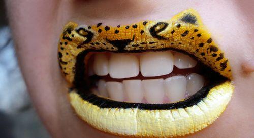 动物唇部彩绘!很炫