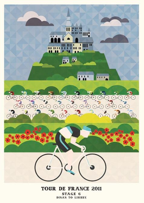 2011环法自行车赛设计海报