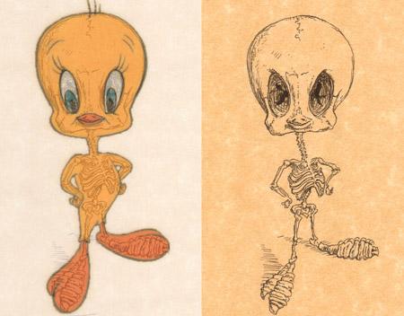 带你看进卡通人物骨子里!图片
