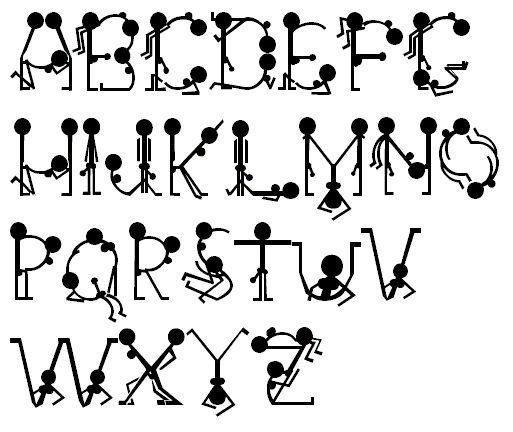 ps可爱英文字母素材