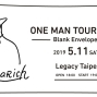 Nulbarich ONE MAN TOUR 2019 台北演唱會-Blank Envelope--封面