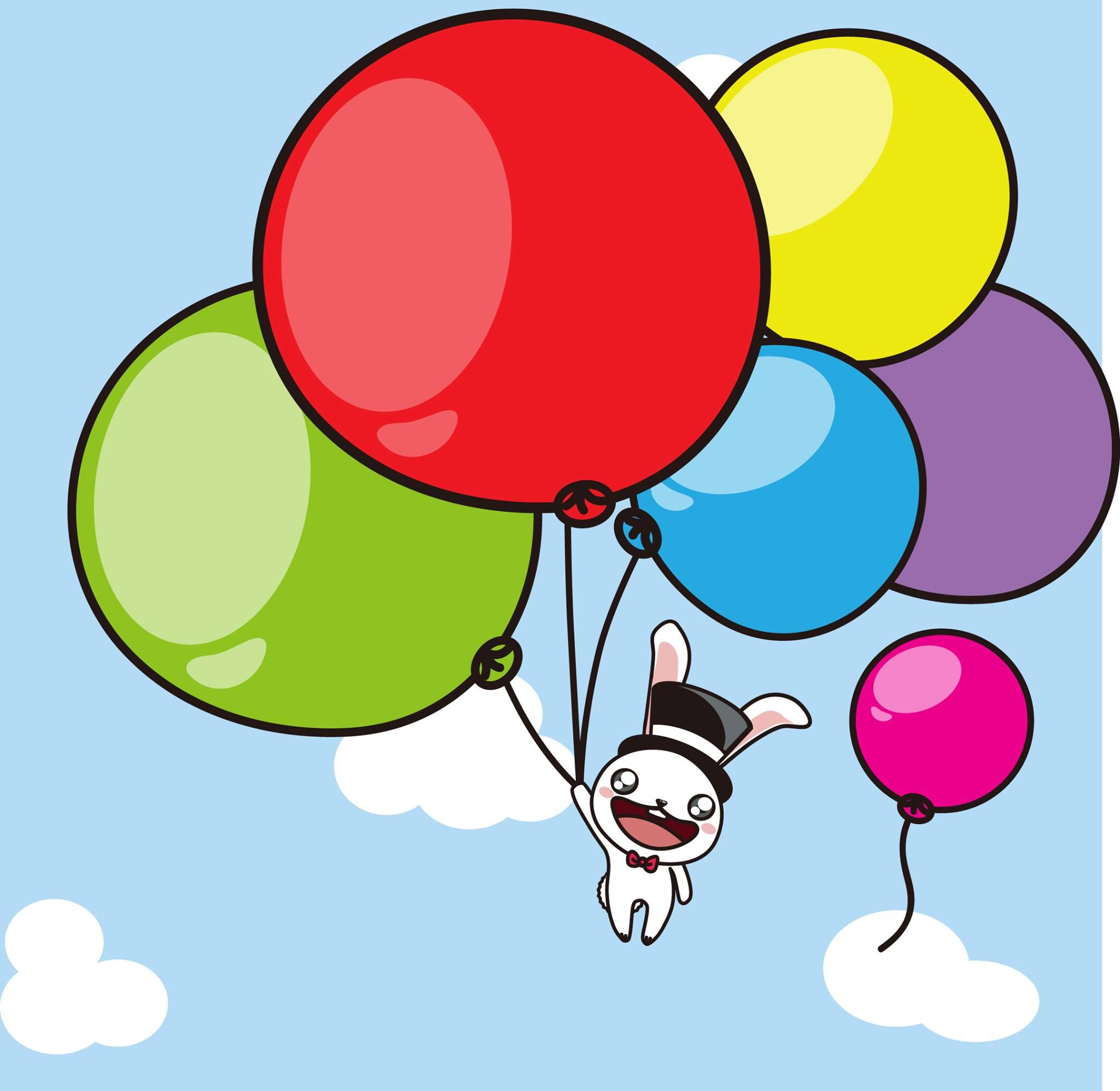 气球简笔风景画